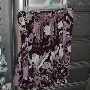 Day to night purple & brown skirt